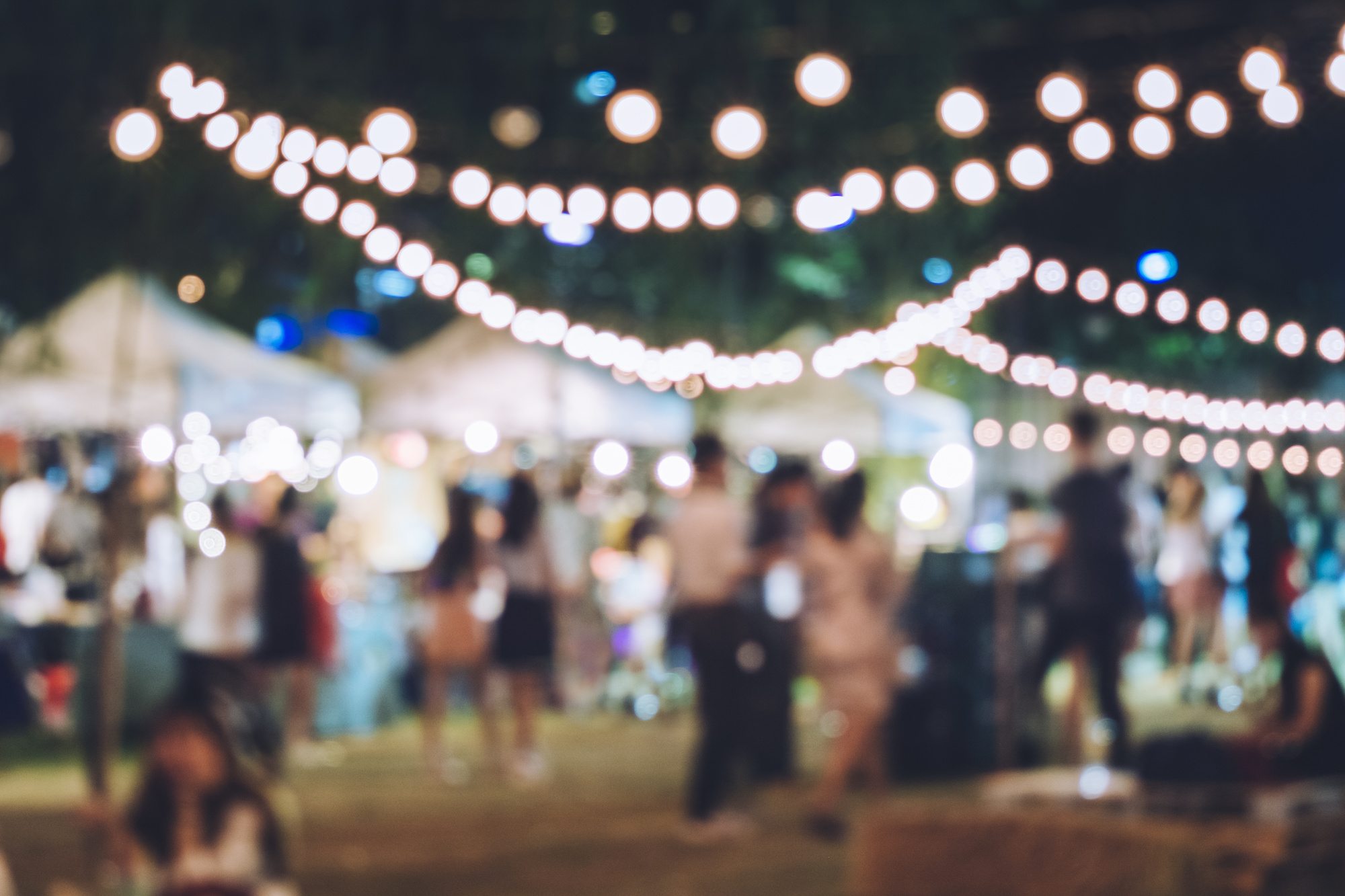 blurred photo of an outdoor event